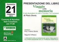 Presentazione del libro 'Viaggio nella memoria -  L'arte di produrre la calce a Nurallao - Is Cracinaius'